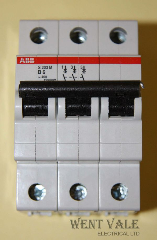 ABB System Pro M - S203M  - 6a Type B Triple Pole MCB New in Box